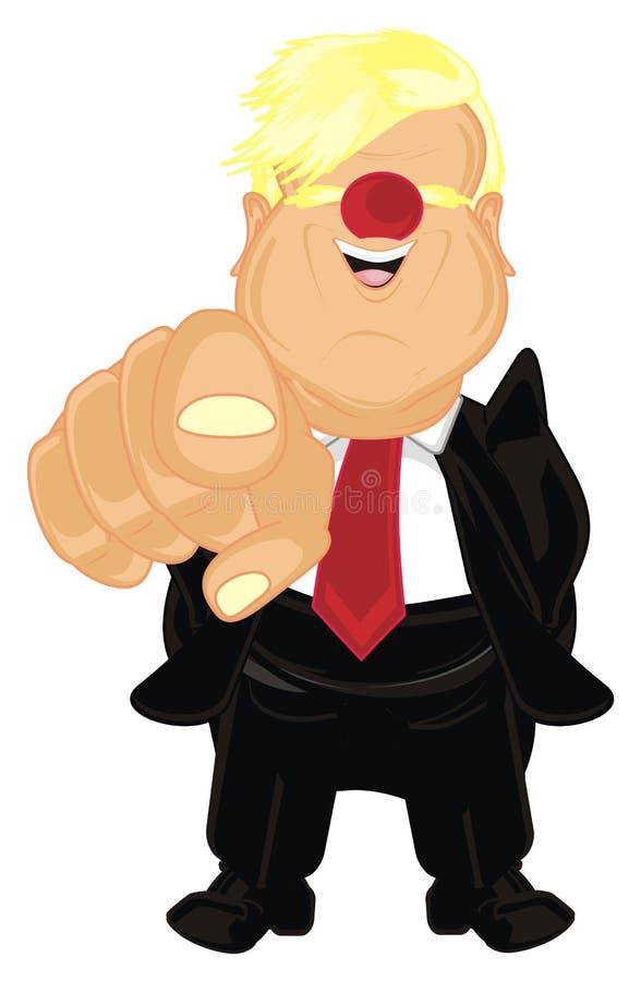 Presiden con la nariz roja libre illustration