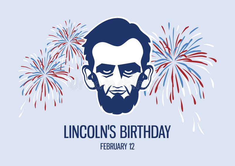 Lincoln`s Birthday vector stock photography