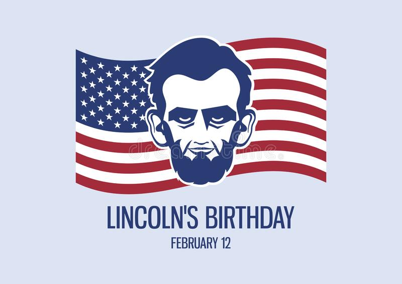 Lincoln`s Birthday vector royalty free stock photography