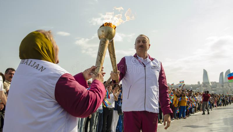 President av Azerbajdzjan arkivfoto