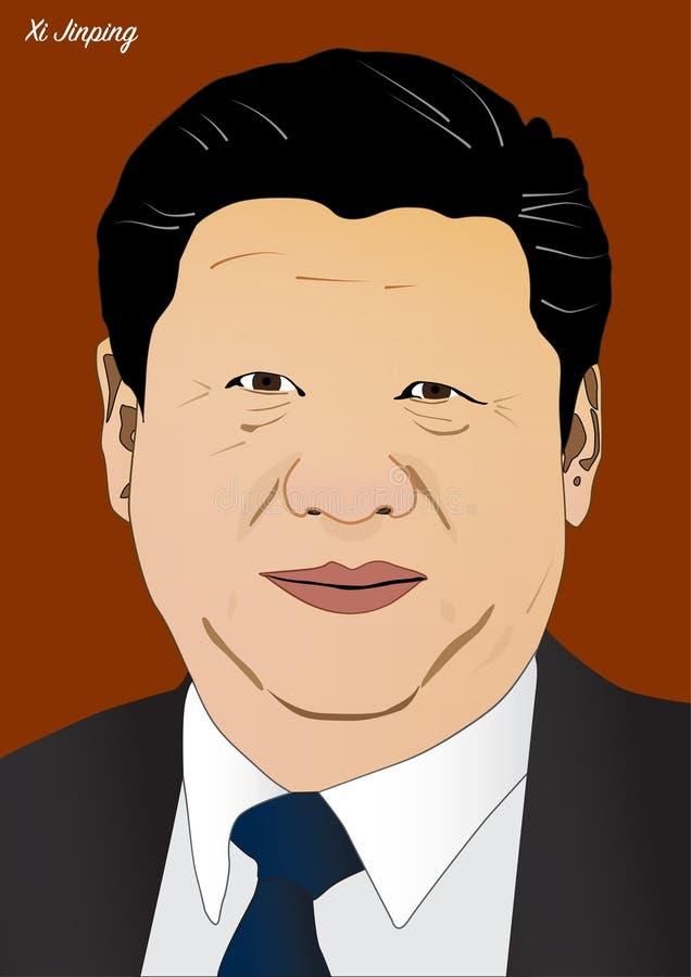 President av Chine Xi Jinping stock illustrationer