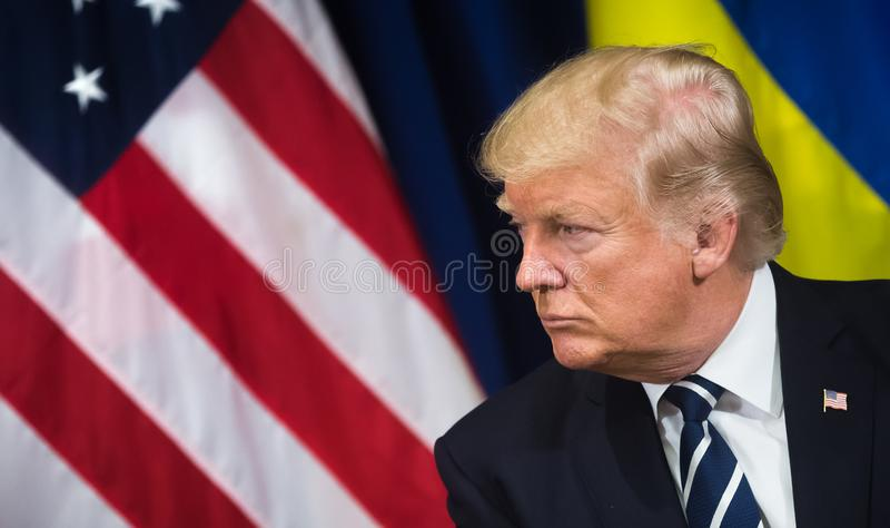 President av Förenta staterna Donald Trump royaltyfri bild