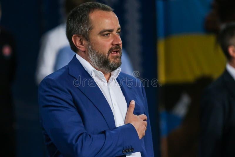 President av fotbollfederationen av Ukraina Andriy Pavelko arkivfoto