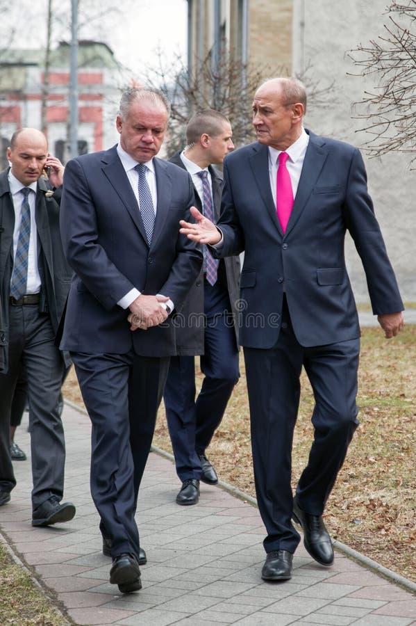President av Slovakien Andrej Kiska arkivbilder