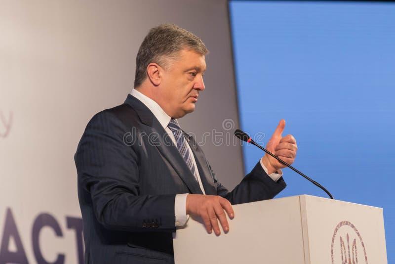 President av Ukraina Petro Poroshenko royaltyfria foton