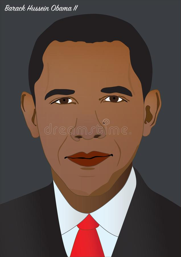 President Barack Hussein Obama II vektor illustrationer