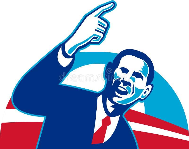 President Barack Obama royalty-vrije illustratie