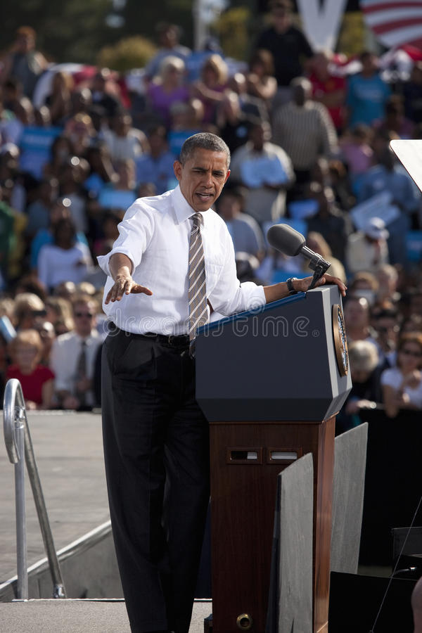 President Barack Obama appears at Presidential Campaign Rally,. November 1, 2012, at Cheyenne Sports Complex, North Las Vegas, Nevada royalty free stock photos