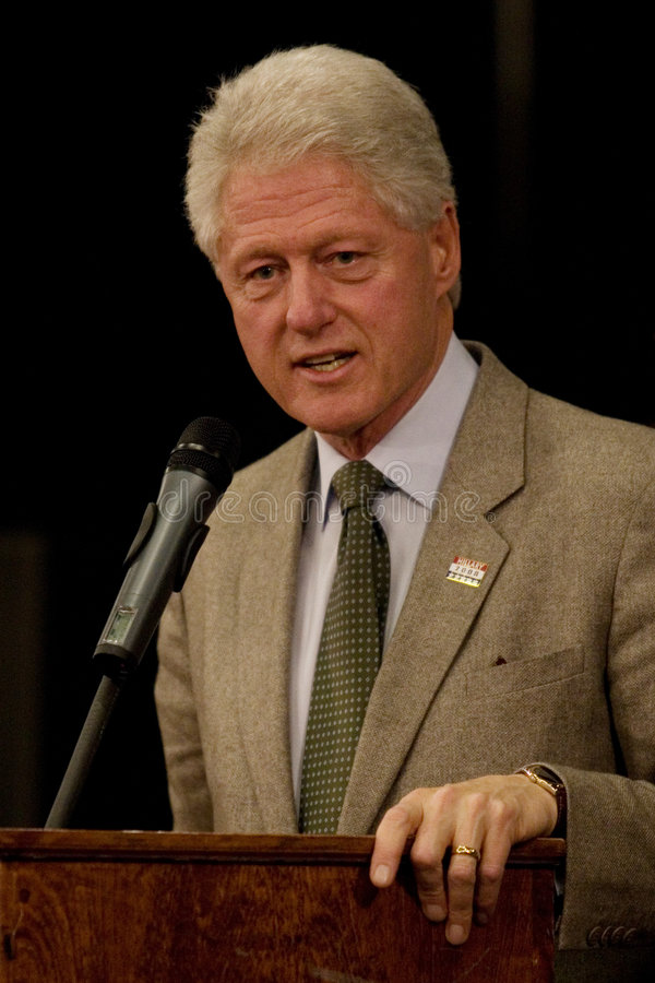 President Bill Clinton stock afbeelding