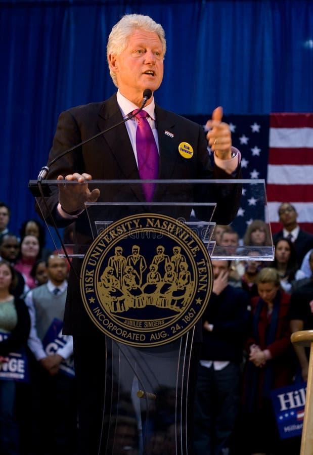 President Bill Clinton giving speech stock photo