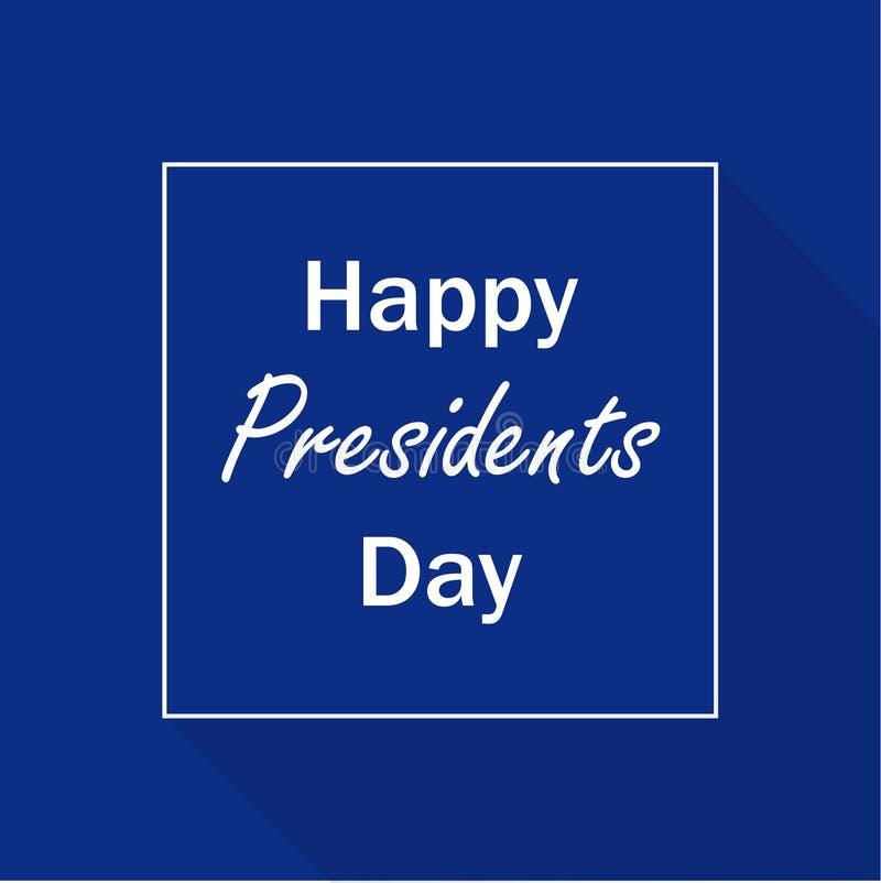 President day celebration . Illustration blue background. Simple lines. Lettering. White letters. Blue banner. Flat design. EPS 10 vector illustration