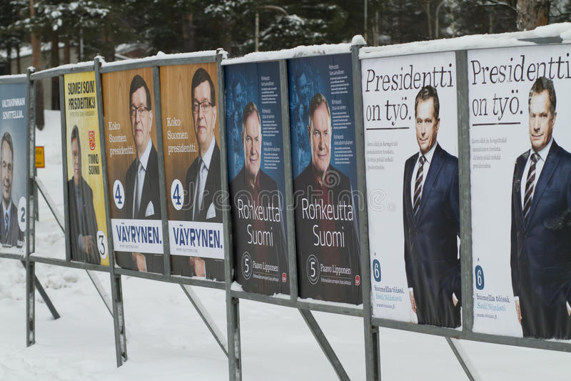 President election in Finland 2012 stock image