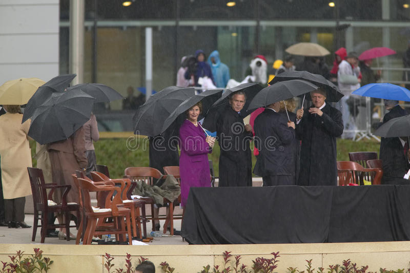 President George W. Bush And  Laura Bush Editorial Image