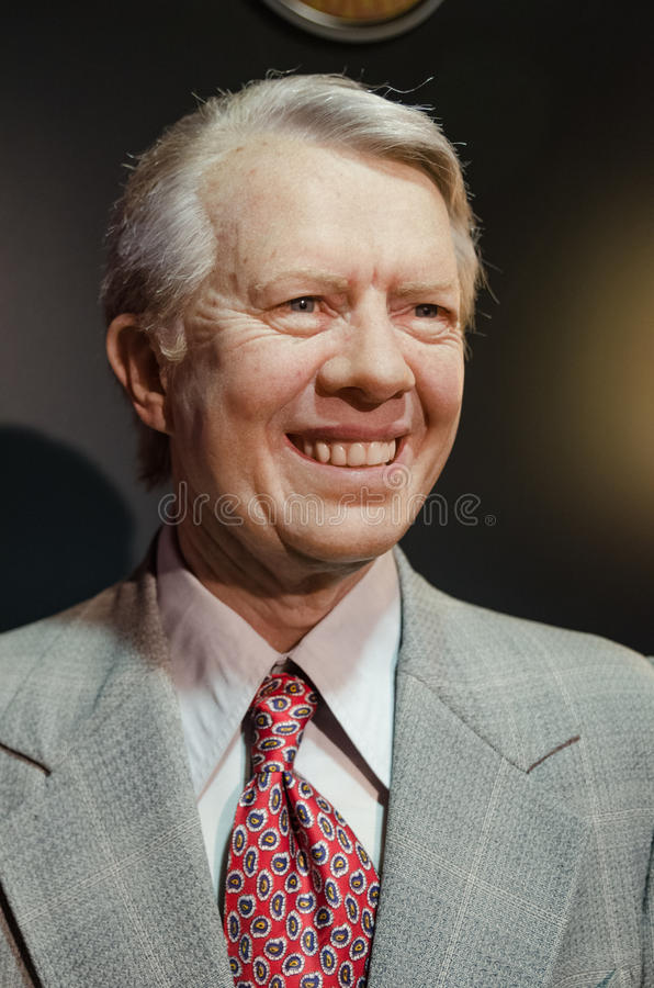 President Jimmy Carter Wax arkivfoto