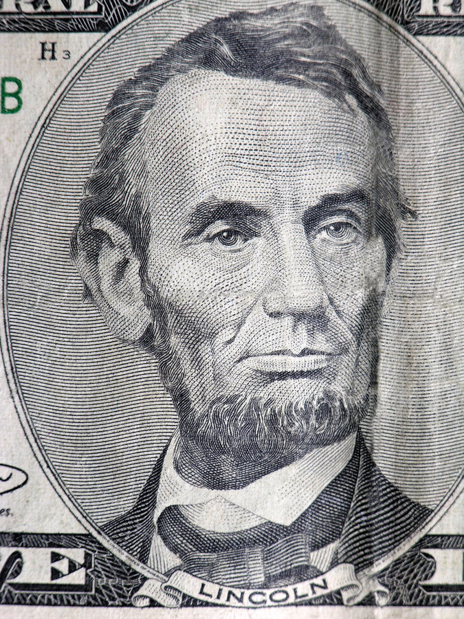 President Lincoln royalty free stock photo