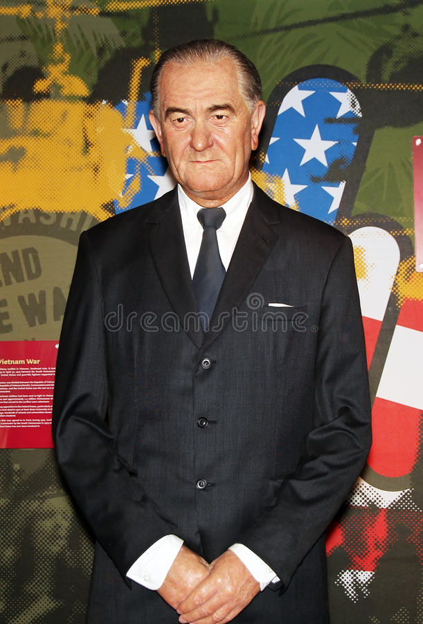 President Lyndon Johnson royalty-vrije stock afbeelding