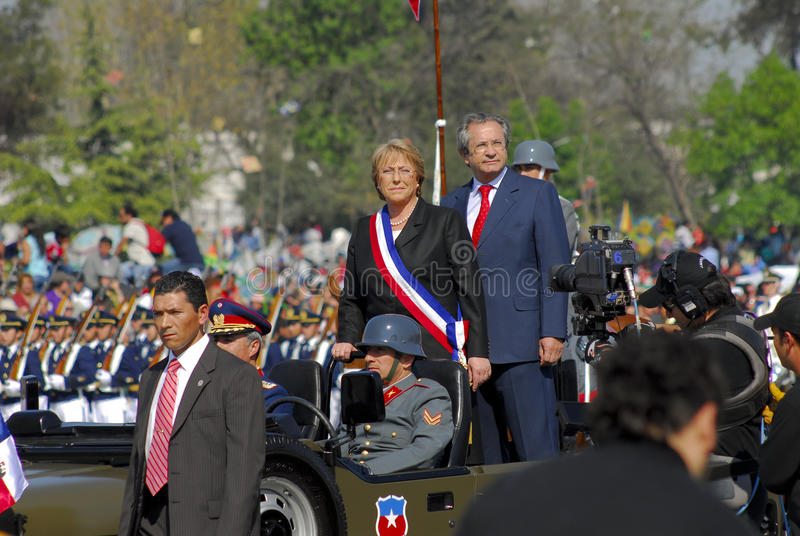 President Michelle Bachelet royalty-vrije stock foto's