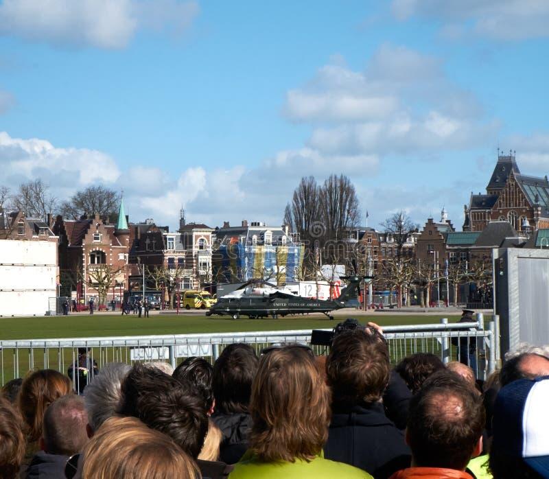 President Obama bezoek aan Rijksmuseum stock afbeeldingen