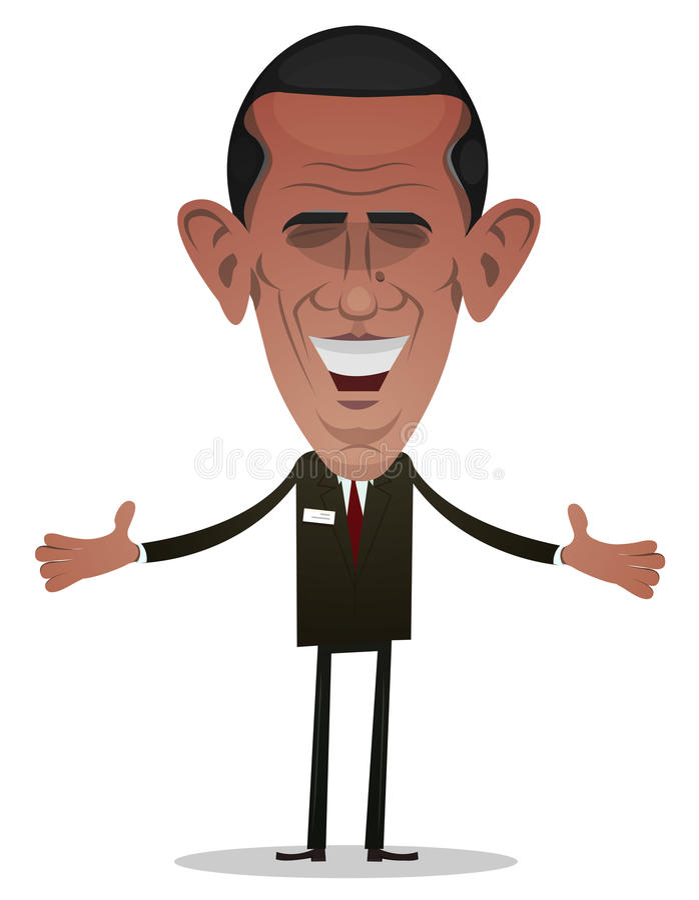President Obama Character vector illustration