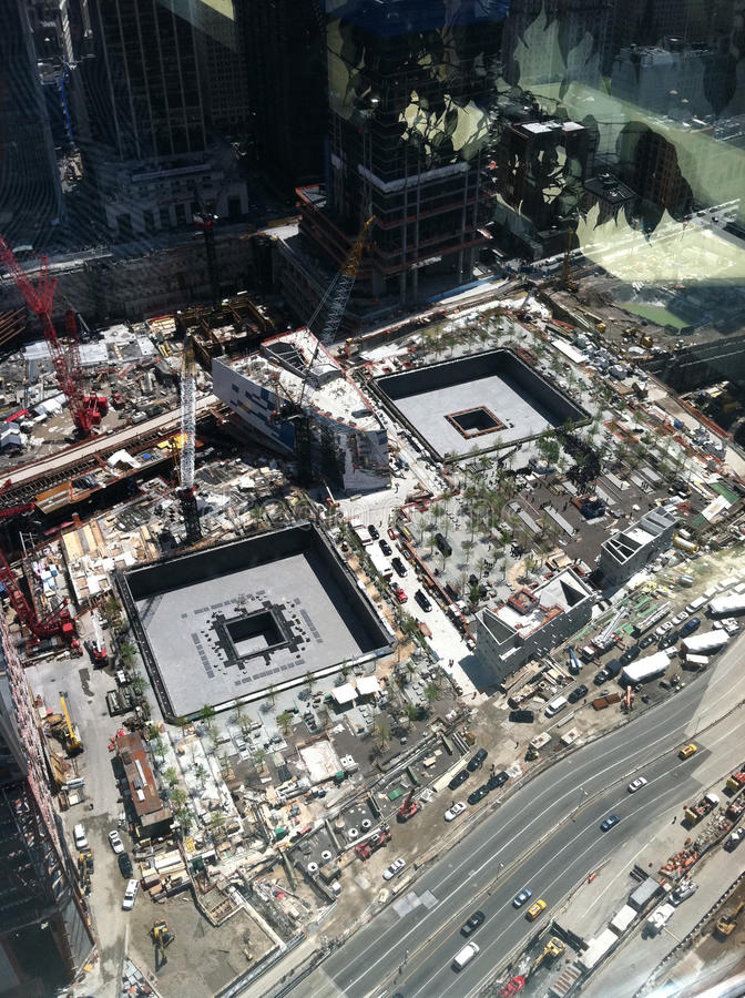 President Obama at Ground Zero stock photography