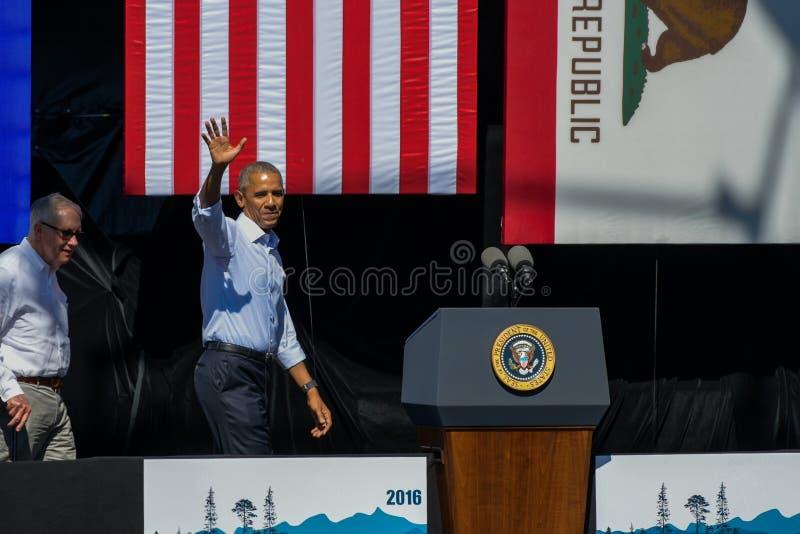 President Obama & Senator Reid at 20th Annual Lake Tahoe Summit stock photos