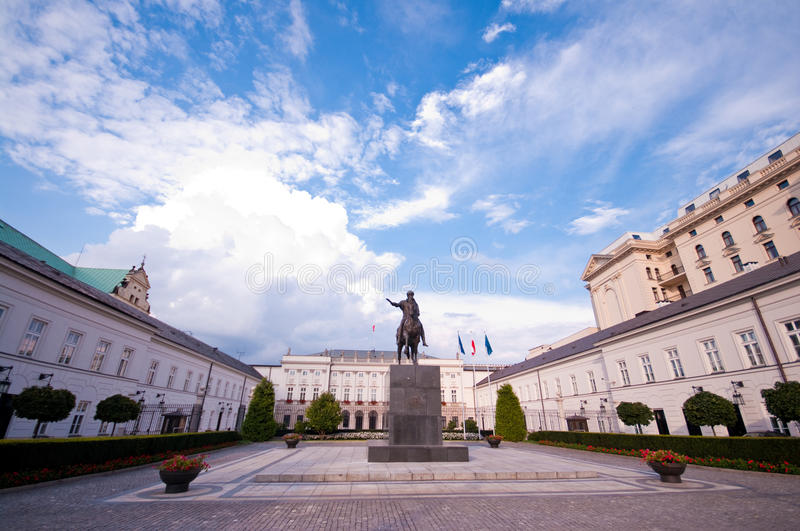 President Palace in Warsaw. The official residence of Polish President, Warsaw stock photo