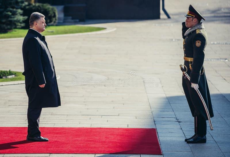President Petro Poroshenko royaltyfri bild