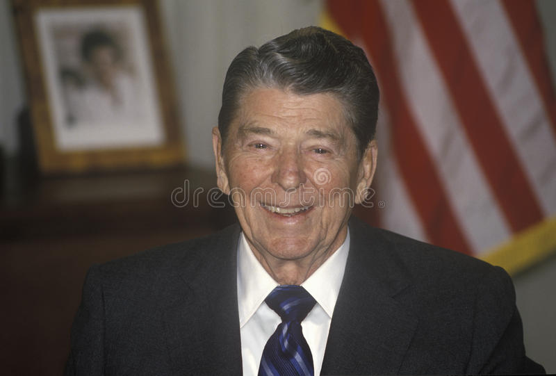 President Reagan. Presents an introduction for the Horatio Alger Association royalty free stock photography