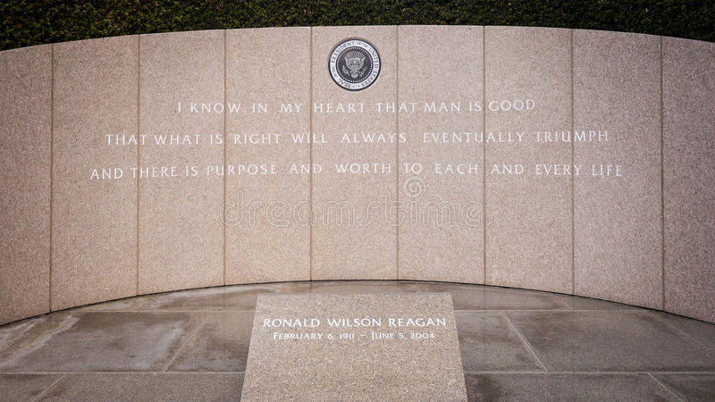 President Reagan's Final Resting Place at the Ronald Reagan Pres. Idential Library royalty free stock photos