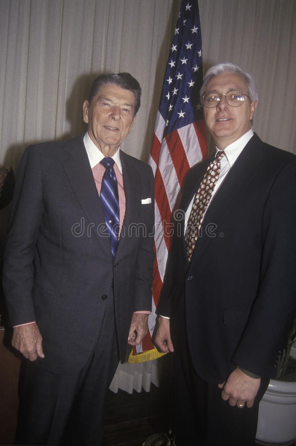 President Ronald Reagan. And a politician posing royalty free stock photography