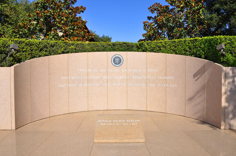President Ronald Reagan's grave, California, USA. President Ronald Wilson Reagan's gravesite located in Simi Valley, California, USA stock photography