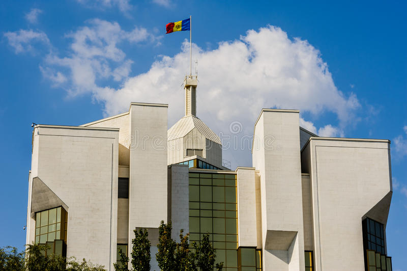 President's administration building, Chisinau,. Top of president's administration building, Chisinau, Republic of Moldova stock images