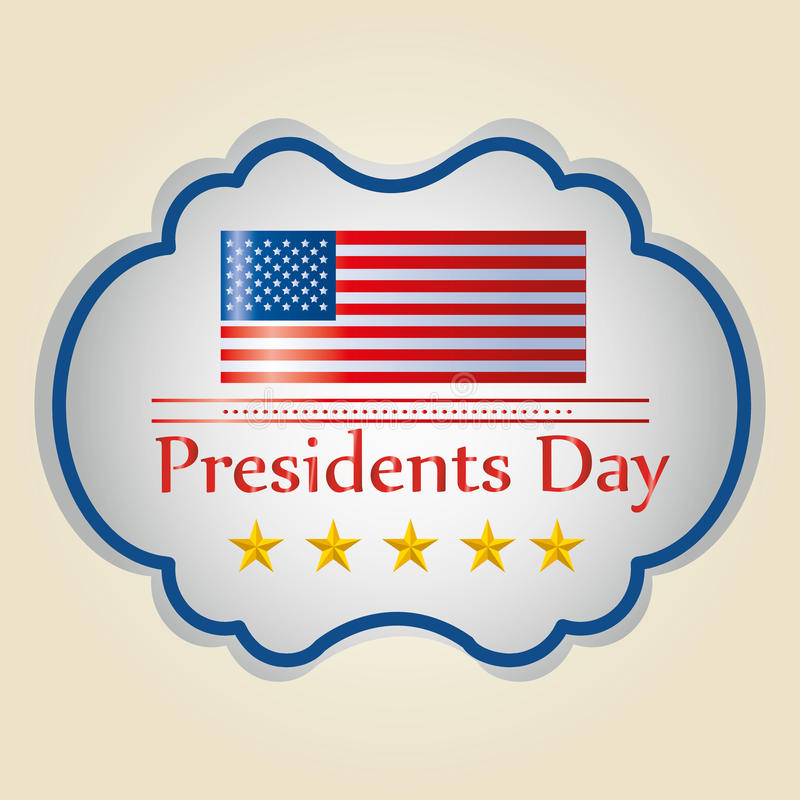 President's day royalty free illustration