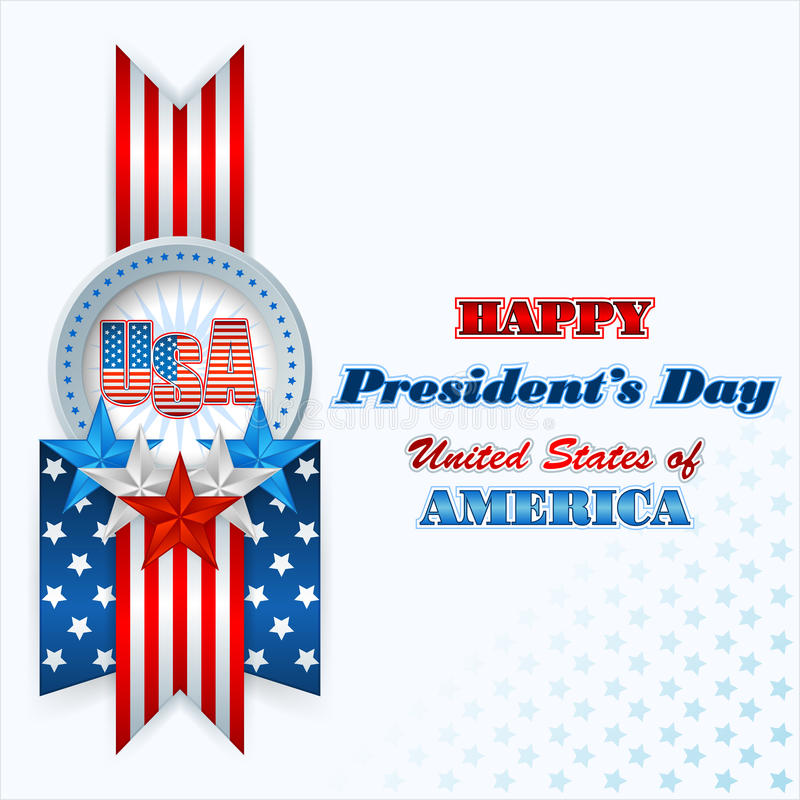 President's Day, abstract computer graphic background vector illustration