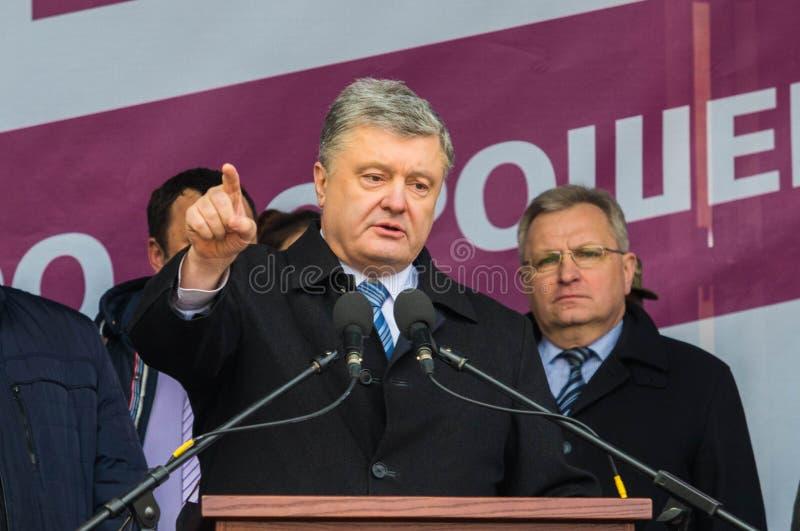 President of Ukraine Petro Poroshenko. POLTAVA, UKRAINE - MARCH 16, 2019: President of Ukraine Petro Poroshenko during meeting of the Council for Regional royalty free stock images