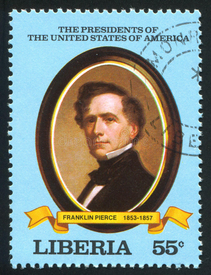 President of the United States Franklin Pierce royalty free stock photography