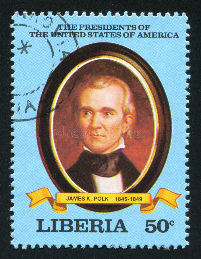 President of the United States James K. Polk royalty free stock image
