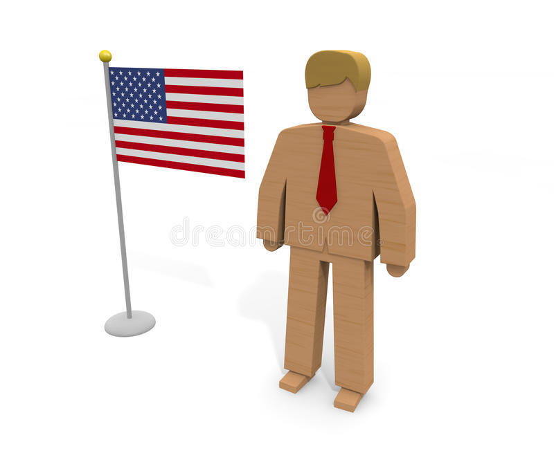 President / USA. President of the United States. I give a speech before the people. I will run for the president. Win the election. Political world. The American royalty free illustration