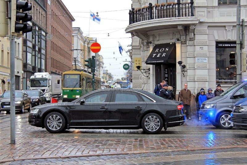President van China Xi Jinping-Bezoek Helsinki royalty-vrije stock fotografie