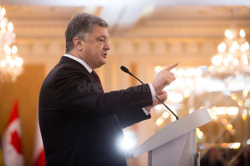 President van de Oekraïne Petro Poroshenko stock foto's