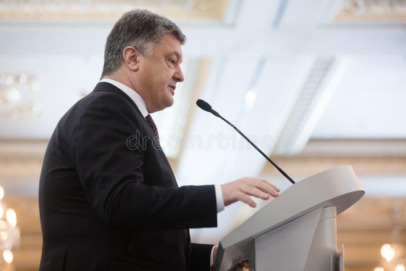 President van de Oekraïne Petro Poroshenko royalty-vrije stock afbeelding