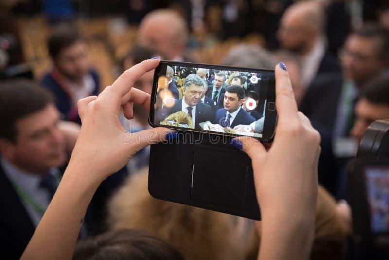 President van de Oekraïne Petro Poroshenko royalty-vrije stock foto's