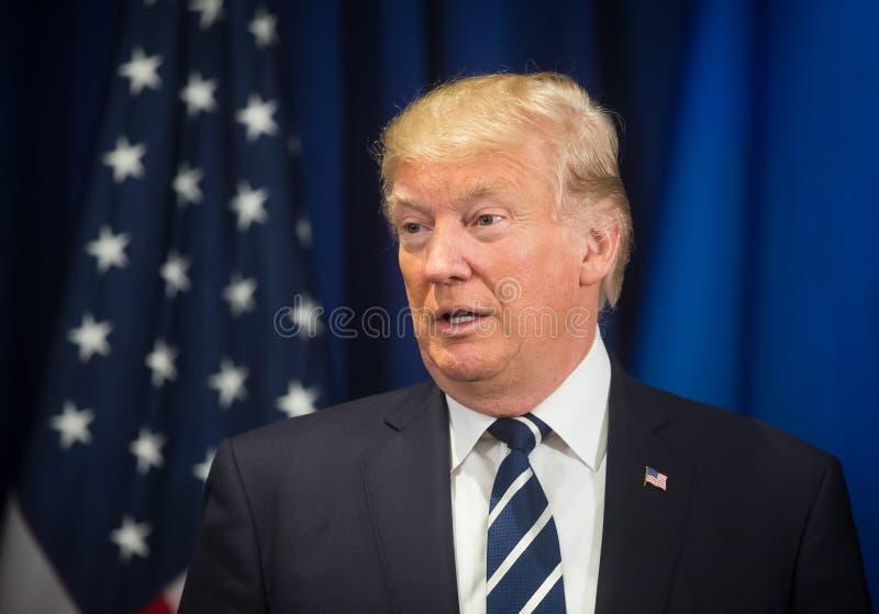 President van de Verenigde Staten Donald Trump stock foto