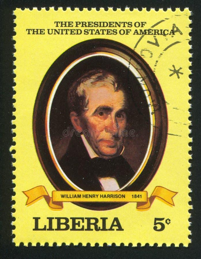 President van de Verenigde Staten Wm H harrison stock afbeelding