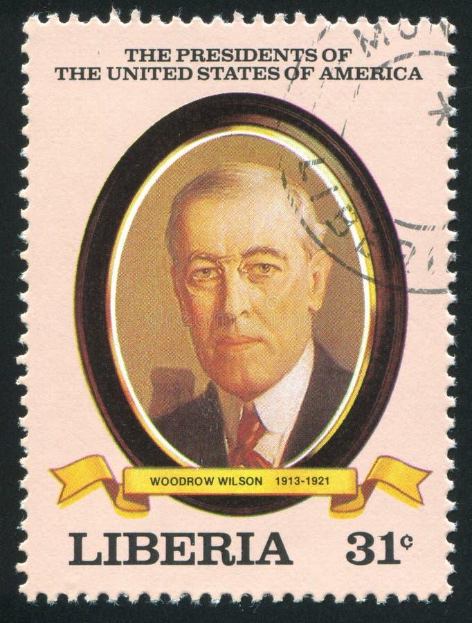 President van de Verenigde Staten Woodrow Wilson stock foto