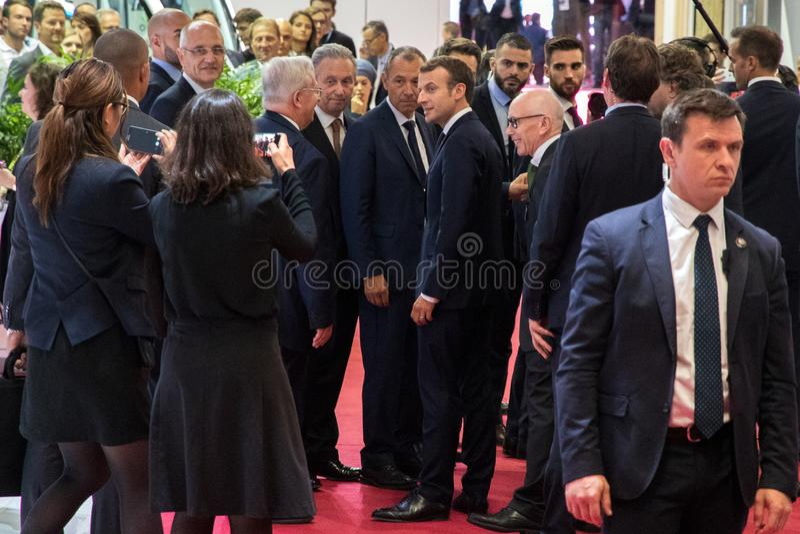 President van Frankrijk Emmanuel Macron stock foto