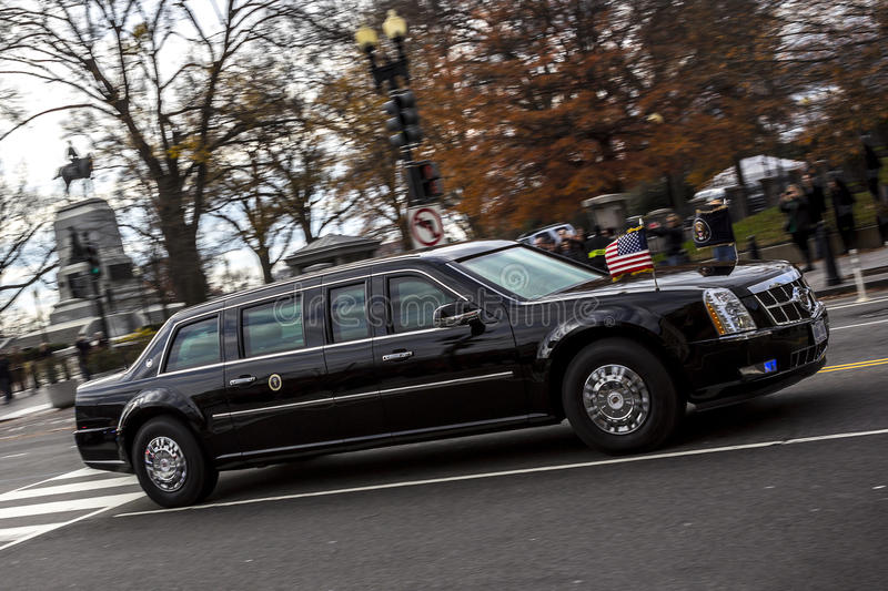 President vehicle. The president is safe due to the technology and material around him. The president is probably the most powerful man in the world, therefore stock images
