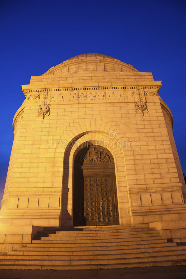 President William McKinley National Memorial. In Canton, Ohio stock photos