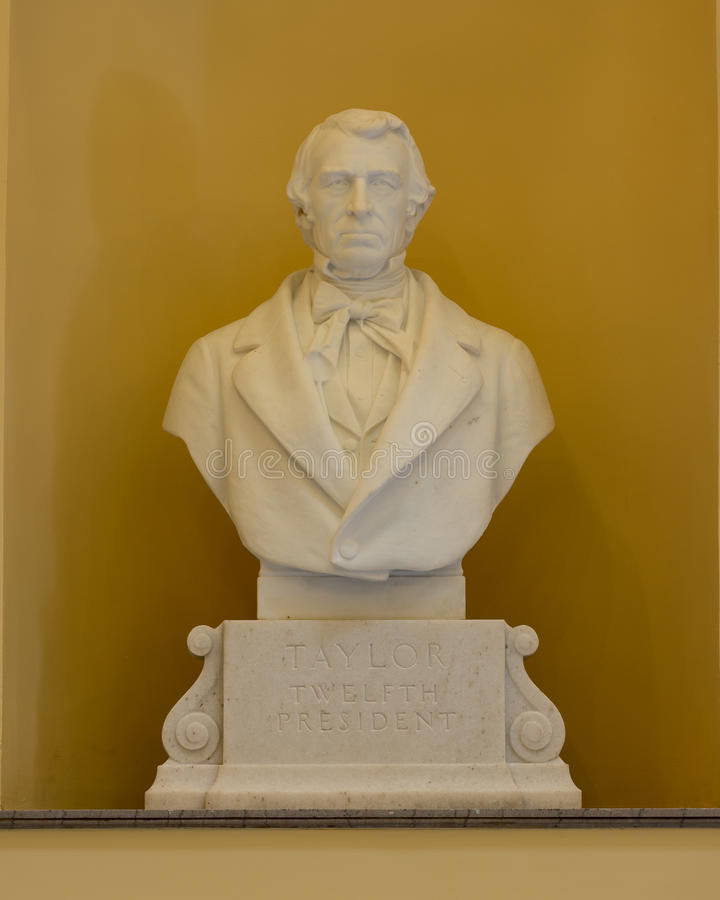 President Zachary Taylor stock photography