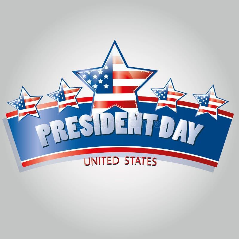 Presidentdag vektor illustrationer